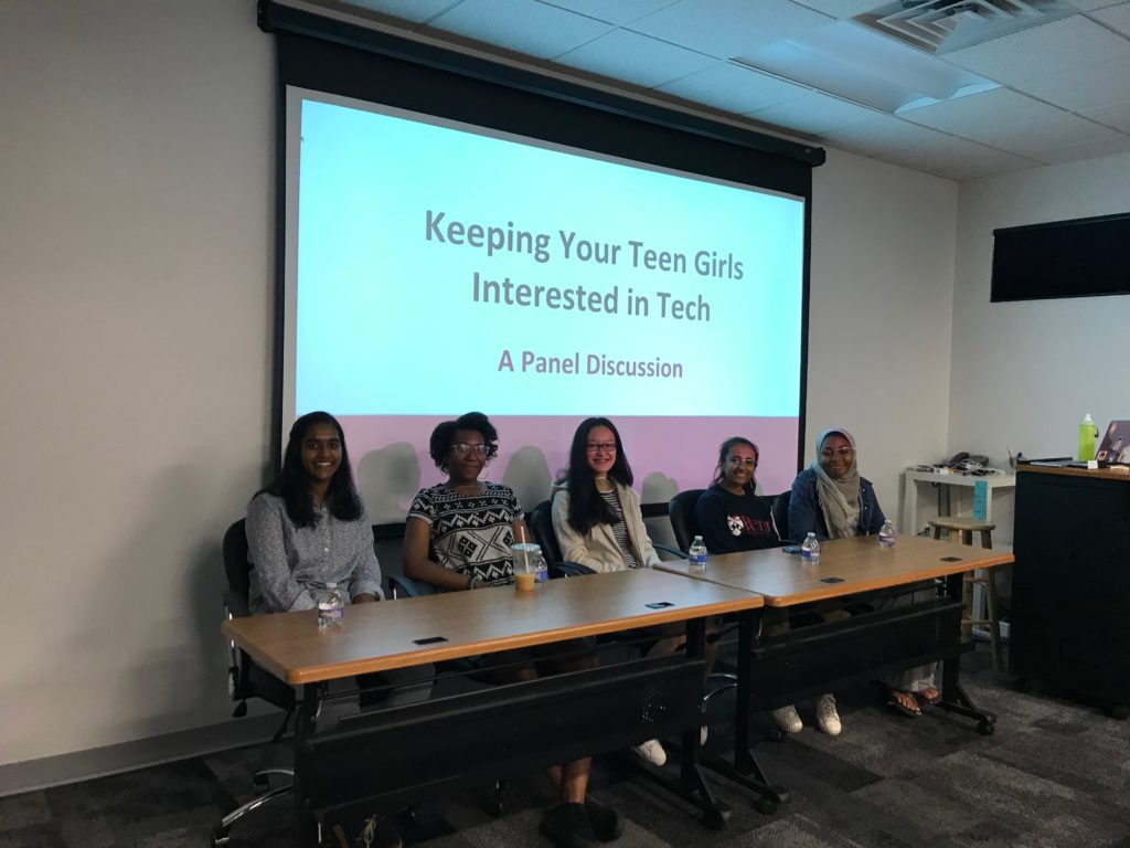 TechGirlz lead a discussion panel