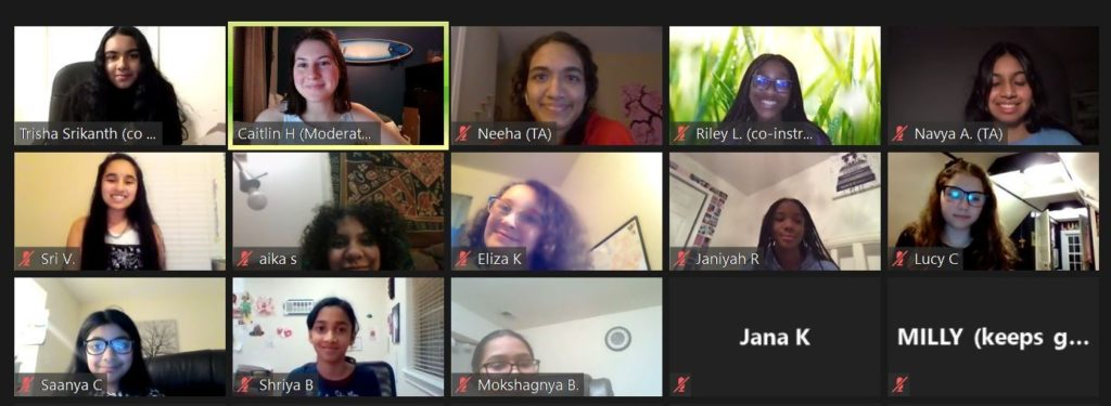 Screenshot of all the participants on a Zoom conference call